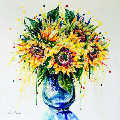 (CreativeWork) You Are My Sunshine by Vanessa Perske. mixed-media. Shop online at Bluethumb.