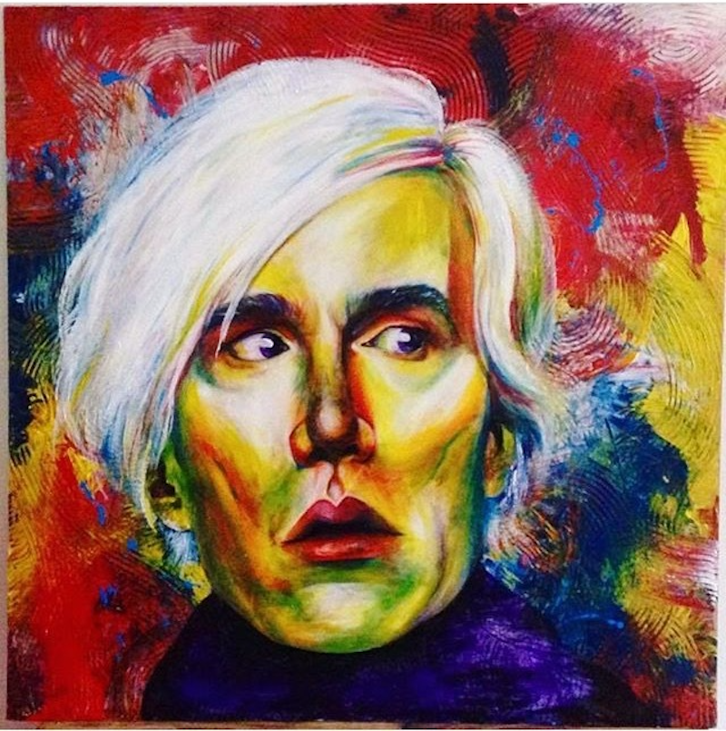 (CreativeWork) ANDY WARHOL  by Alice Mayqueen. arcylic-painting. Shop online at Bluethumb.
