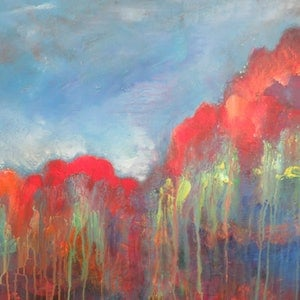 (CreativeWork) terra bio firma by Jane Welsh. arcylic-painting. Shop online at Bluethumb.