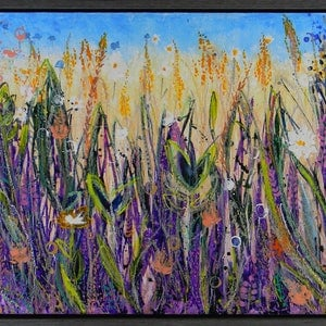 (CreativeWork) Wild Flower Meadow no2 by Adel Nemeth. mixed-media. Shop online at Bluethumb.
