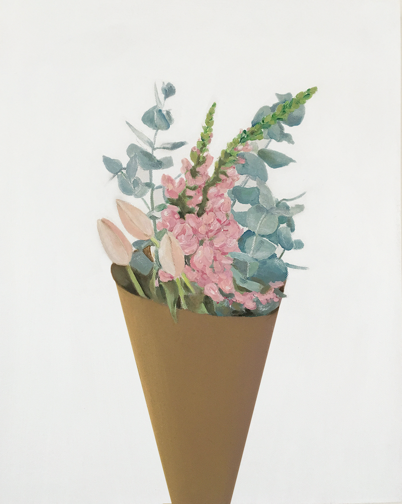 (CreativeWork) Fresh Flowers 2 by Donna Christie. oil-painting. Shop online at Bluethumb.