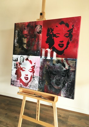 (CreativeWork) Fame and Faces of Marilyn by Melanie Spehr. #<Filter:0x00007f00e5bf3dc0>. Shop online at Bluethumb.