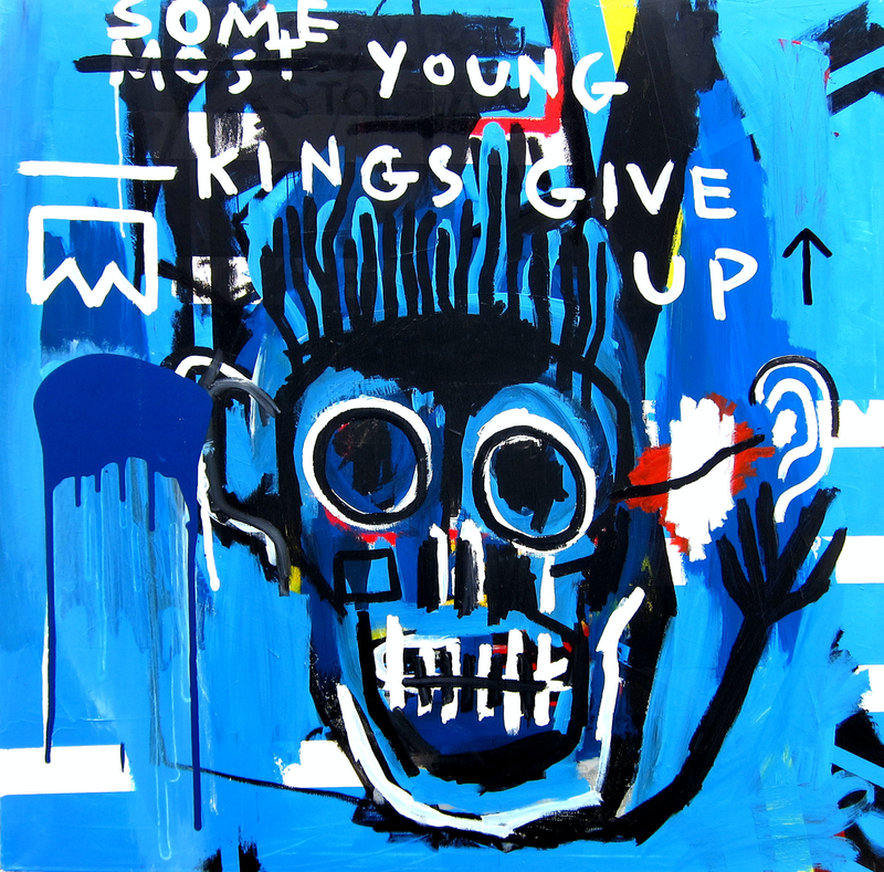 (CreativeWork) Some Young Kings by Cameron Holmes. mixed-media. Shop online at Bluethumb.