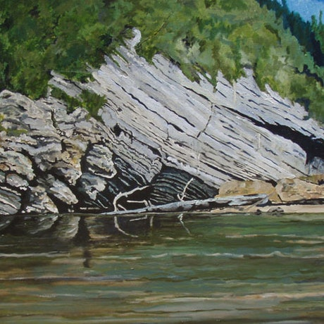 (CreativeWork) Franlin river study 2 by Andrew BARR. Acrylic Paint. Shop online at Bluethumb.