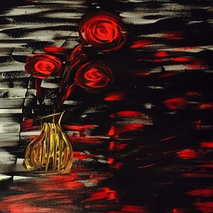 (CreativeWork) Roses  by Debora Vecchi. arcylic-painting. Shop online at Bluethumb.