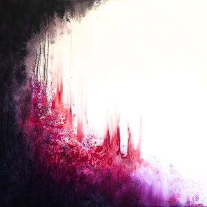 (CreativeWork) Red Forest I by Shani White. acrylic-painting. Shop online at Bluethumb.