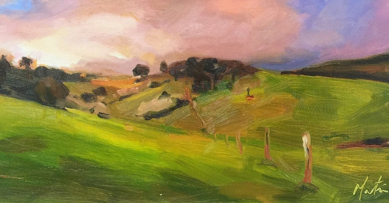 (CreativeWork) Shepherds delight by Chris Martin. Oil Paint. Shop online at Bluethumb.