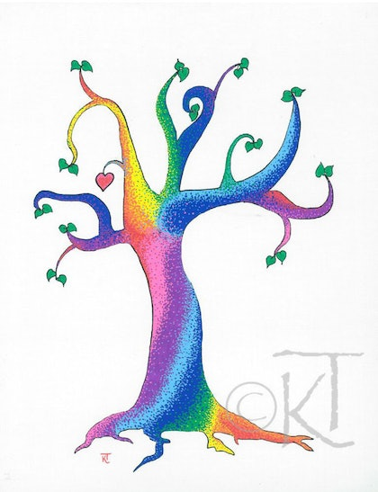 (CreativeWork) The Candy Tree by Karen Todman. other-media. Shop online at Bluethumb.