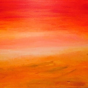 (CreativeWork) Sunset by Debora Vecchi. arcylic-painting. Shop online at Bluethumb.