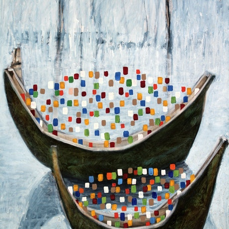 (CreativeWork) welcome boat 2 by STEVEN PERRIN. Oil Paint. Shop online at Bluethumb.