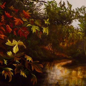 (CreativeWork) Autumn Afternoon by Cathy Yarwood - Mahy. arcylic-painting. Shop online at Bluethumb.