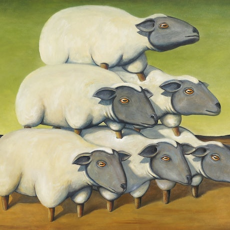 (CreativeWork) Sheep Stack - Limited Edition Print 11/250 Ed. 11 of 250 by Tank .. Print. Shop online at Bluethumb.