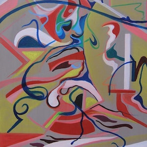 (CreativeWork) Fluidity and form by Daniel Breda. oil-painting. Shop online at Bluethumb.