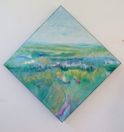 (CreativeWork) Through the grasslands by Jane Welsh. arcylic-painting. Shop online at Bluethumb.
