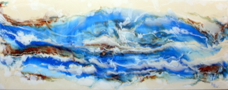 (CreativeWork) RIP TIDE by Ron Brown. resin. Shop online at Bluethumb.