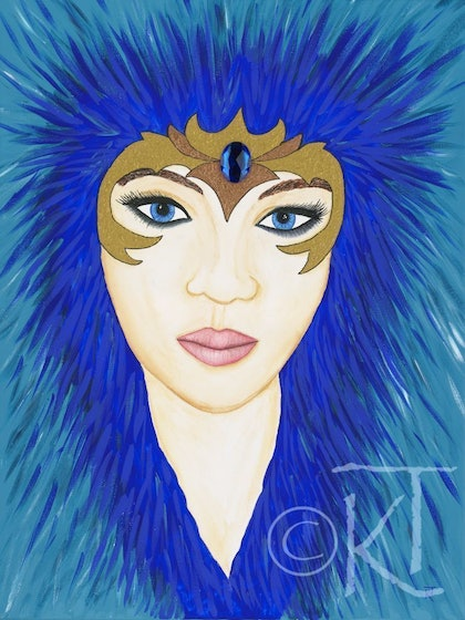 (CreativeWork) Fierce by Karen Todman. arcylic-painting. Shop online at Bluethumb.