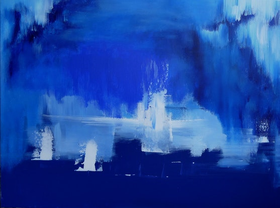 (CreativeWork) Icebergs by Jennifer Whiteley. Acrylic Paint. Shop online at Bluethumb.