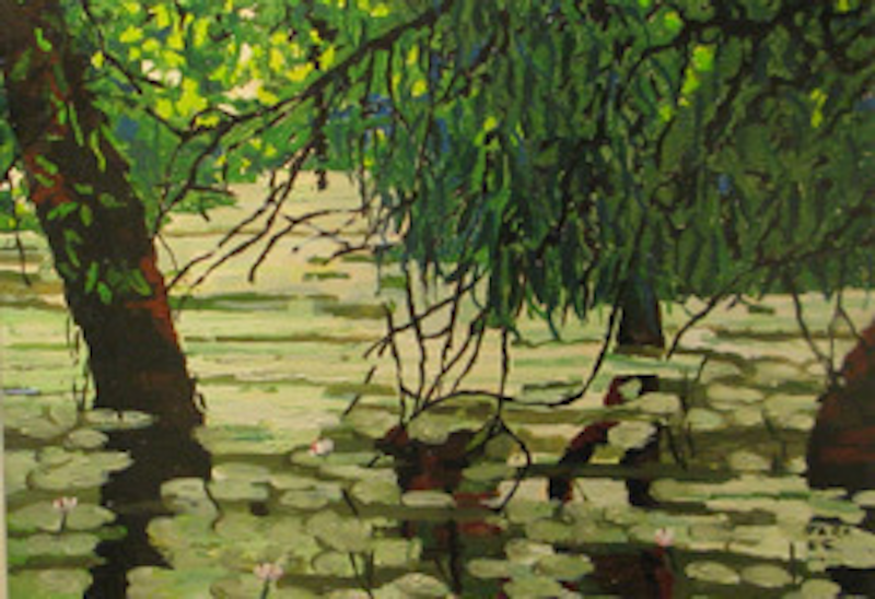 (CreativeWork) Billabong study 1 by Andrew BARR. arcylic-painting. Shop online at Bluethumb.