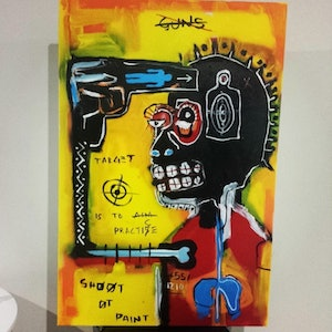 (CreativeWork) Goals and Targets by Stephen Muguti. mixed-media. Shop online at Bluethumb.