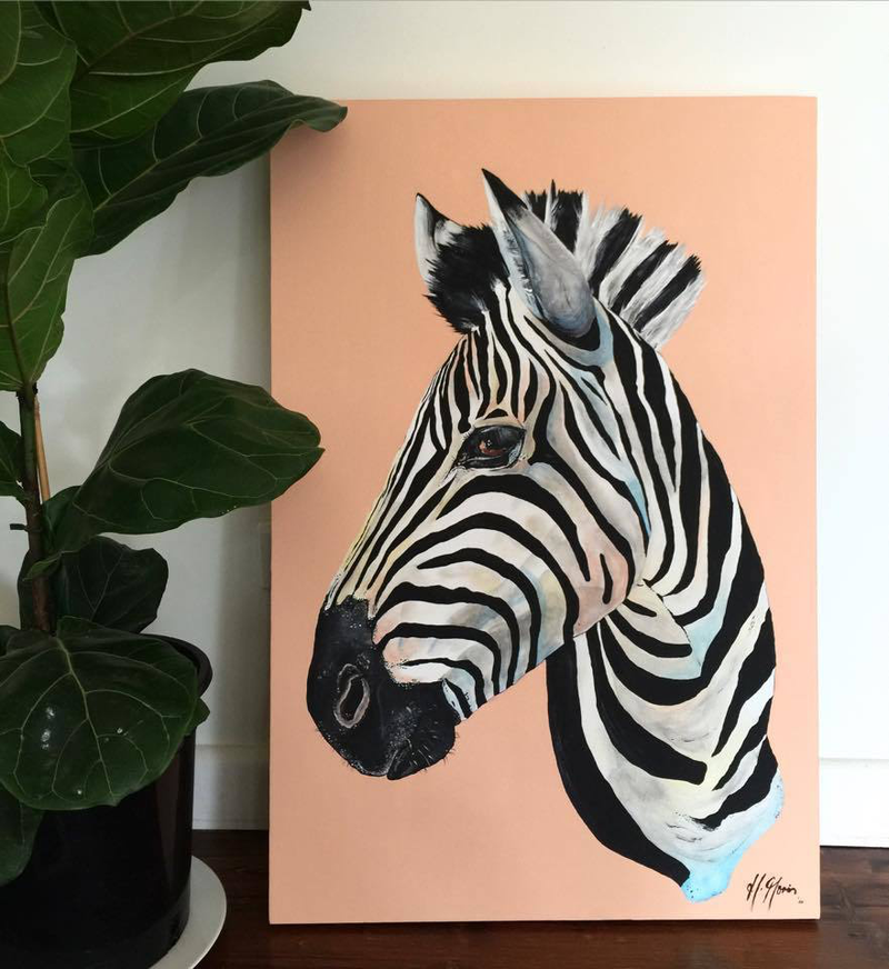 (CreativeWork) Winnifred by HEYLIE MORRIS. Acrylic Paint. Shop online at Bluethumb.