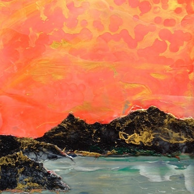 (CreativeWork) Golden Hour by Christine Moore. Mixed Media. Shop online at Bluethumb.