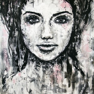 (CreativeWork) Imperfection by Kate Fisher. arcylic-painting. Shop online at Bluethumb.