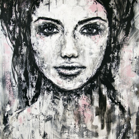 (CreativeWork) Imperfection by Kate Fisher. Acrylic Paint. Shop online at Bluethumb.