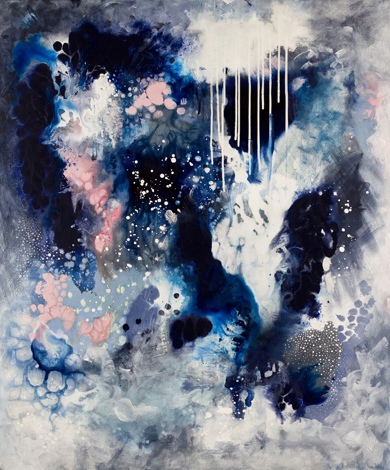 (CreativeWork) Dance In The Rain by Kate Fisher. acrylic-painting. Shop online at Bluethumb.