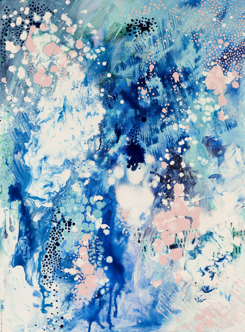 (CreativeWork) When Snow Falls by Kate Fisher. arcylic-painting. Shop online at Bluethumb.