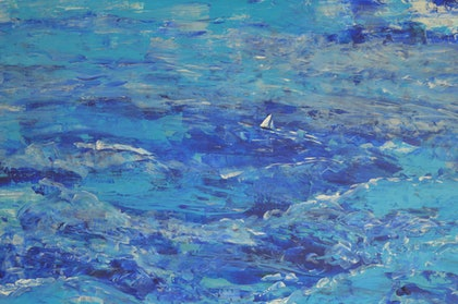 (CreativeWork) Endless Ocean by Winka von Fahland. arcylic-painting. Shop online at Bluethumb.