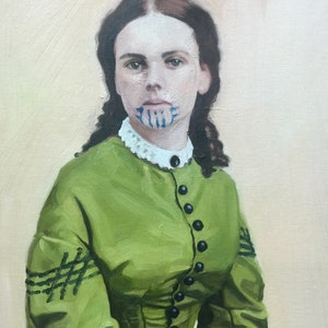 (CreativeWork) Olive Oatman by Chris Martin. oil-painting. Shop online at Bluethumb.