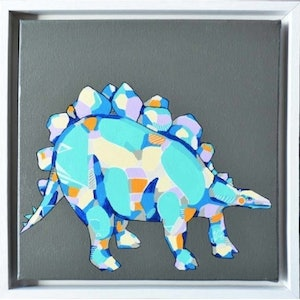 (CreativeWork) Stegosaurus by Tamara Armstrong. arcylic-painting. Shop online at Bluethumb.