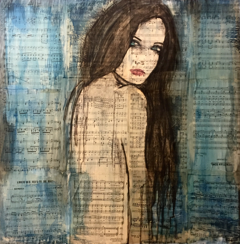 (CreativeWork) Lisa by Katie Dobson. watercolour. Shop online at Bluethumb.