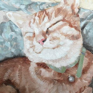 (CreativeWork) Harry in Repose by Donna Christie. oil-painting. Shop online at Bluethumb.