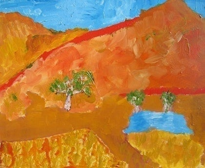 (CreativeWork) Ross River by Tony Williams. arcylic-painting. Shop online at Bluethumb.
