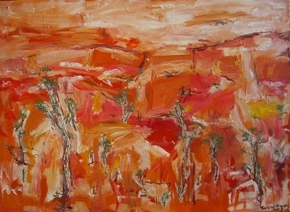 (CreativeWork) Larapinta Country by Tony Williams. arcylic-painting. Shop online at Bluethumb.