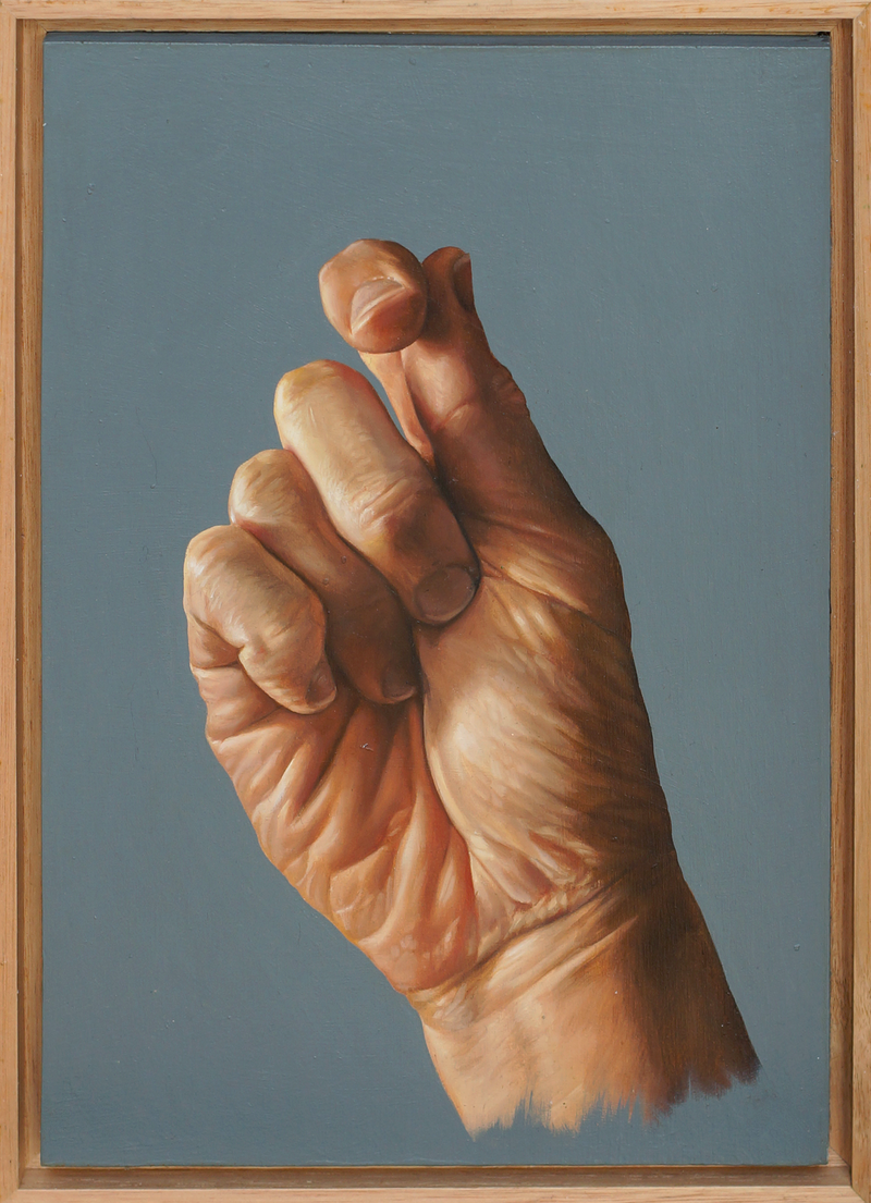 (CreativeWork) Hand study by Daevid Anderson. oil-painting. Shop online at Bluethumb.