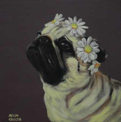 (CreativeWork) Serie Petportrait. Arriving Spring - DISCOUNT FOR TRAVEL ! by Aylen Crusta. arcylic-painting. Shop online at Bluethumb.