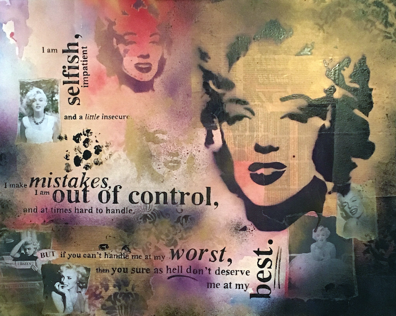 (CreativeWork) Remembering Marilyn by Melanie Spehr. mixed-media. Shop online at Bluethumb.