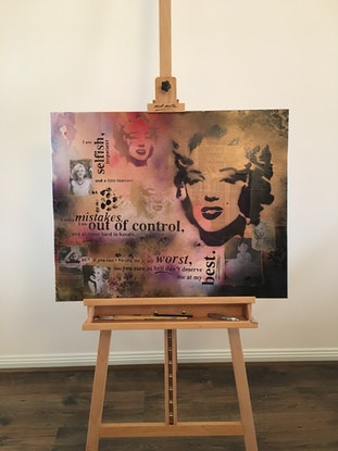 (CreativeWork) Remembering Marilyn by Melanie Spehr. Mixed Media. Shop online at Bluethumb.