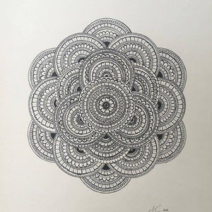 (CreativeWork) Mans House Mandala. by Jessica Towers. drawing. Shop online at Bluethumb.