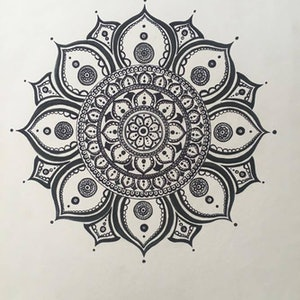 (CreativeWork) Octo-Petal Mandala  by Jessica Towers. drawing. Shop online at Bluethumb.
