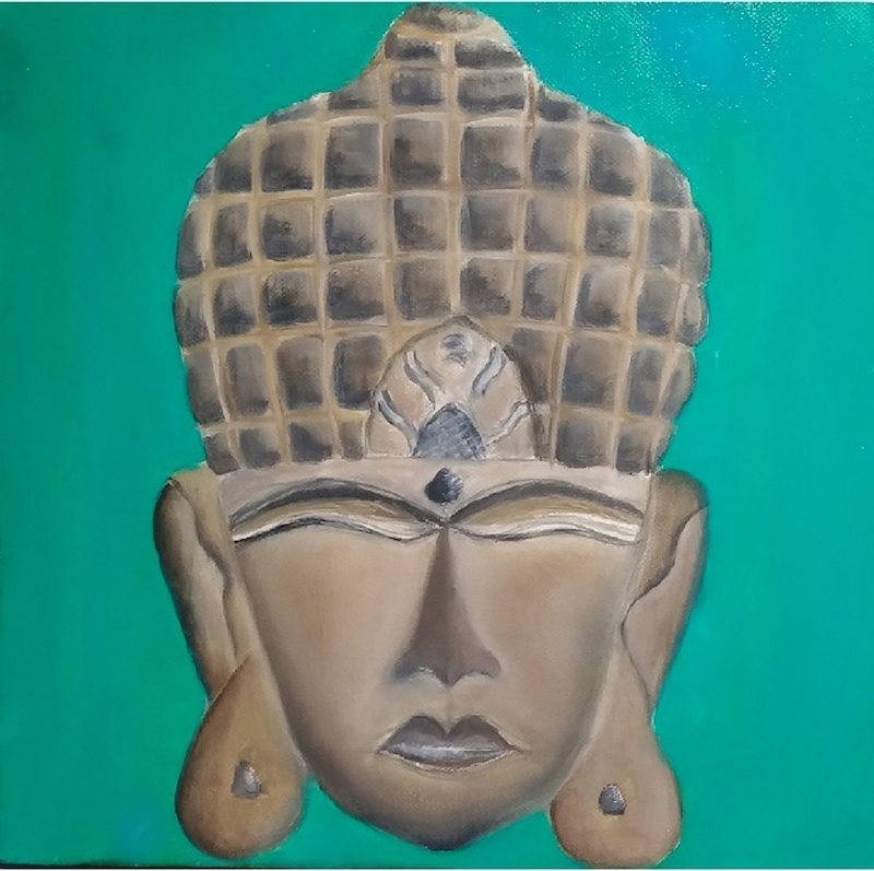(CreativeWork) Mask by Fiona Taylor. oil-painting. Shop online at Bluethumb.