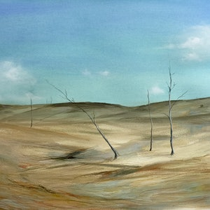 (CreativeWork) Thirsty Country by Jodi Bowen. mixed-media. Shop online at Bluethumb.