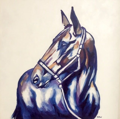 (CreativeWork) Showtime by Holly Whitelaw. oil-painting. Shop online at Bluethumb.