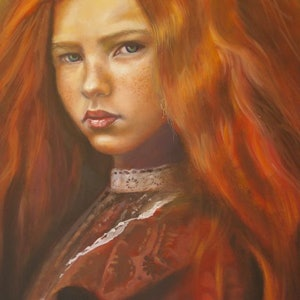 (CreativeWork) Princess by Jamie Brown. oil-painting. Shop online at Bluethumb.