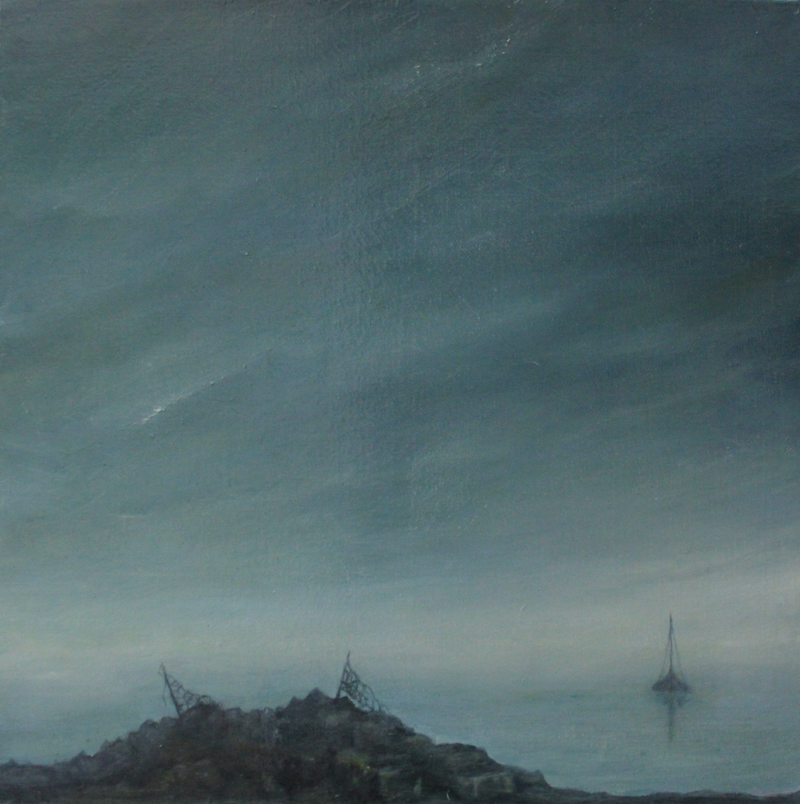 (CreativeWork) Contemplation-Ashore by Julie-anne Armstrong-Roper. oil-painting. Shop online at Bluethumb.