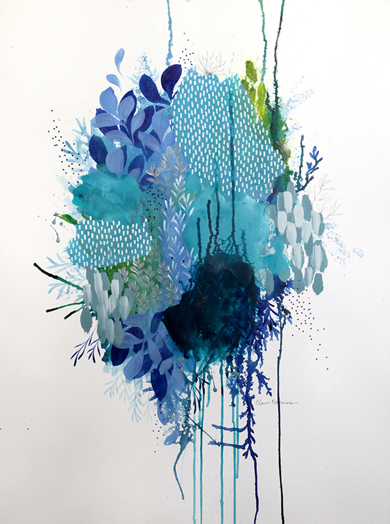 (CreativeWork) Floral Study Two by Clair Bremner. acrylic-painting. Shop online at Bluethumb.