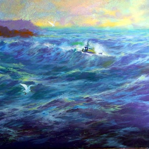 (CreativeWork) Callout by Peter Campbell. Oil Paint. Shop online at Bluethumb.