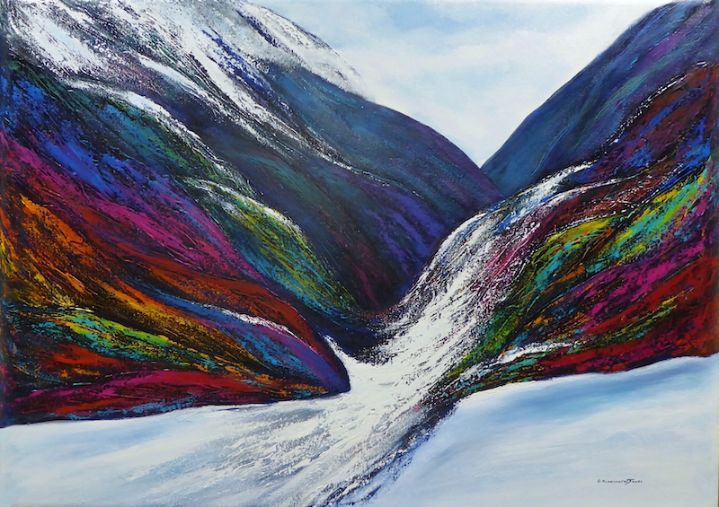 (CreativeWork) Broad Spectrum II by Clare Riddington Jones. arcylic-painting. Shop online at Bluethumb.